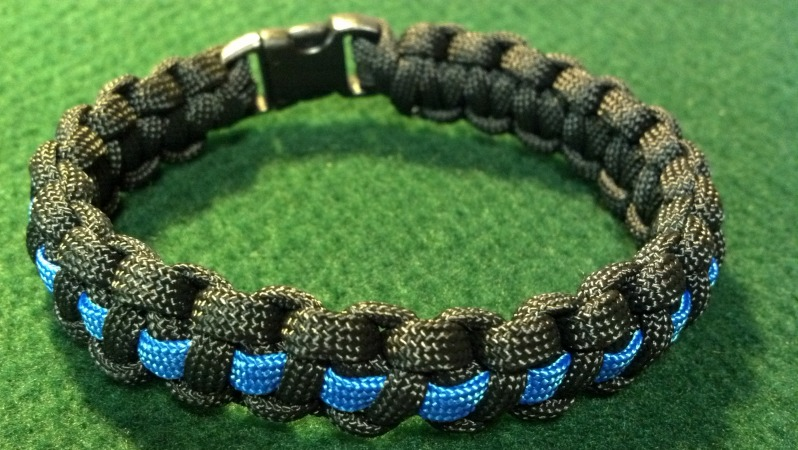 Thin Blue Line Police Law Enforcement Paracord Survival Bracelet