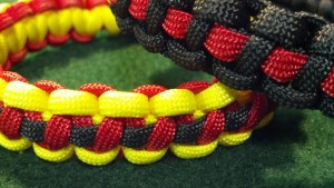 Thin Red Line and Fire and Ice Braceletes