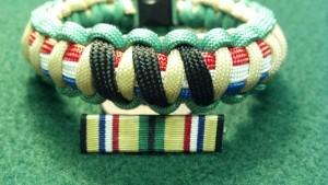 Desert Shield/Desert Storm Campaign Service Ribbon/Medal Bracelet