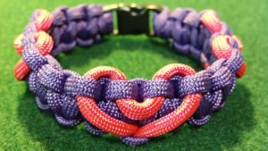 Two Color All Hearts Paracord Bracelet