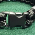 Thin Silver Line Corrections Correctional Officer Paracord Bracelet